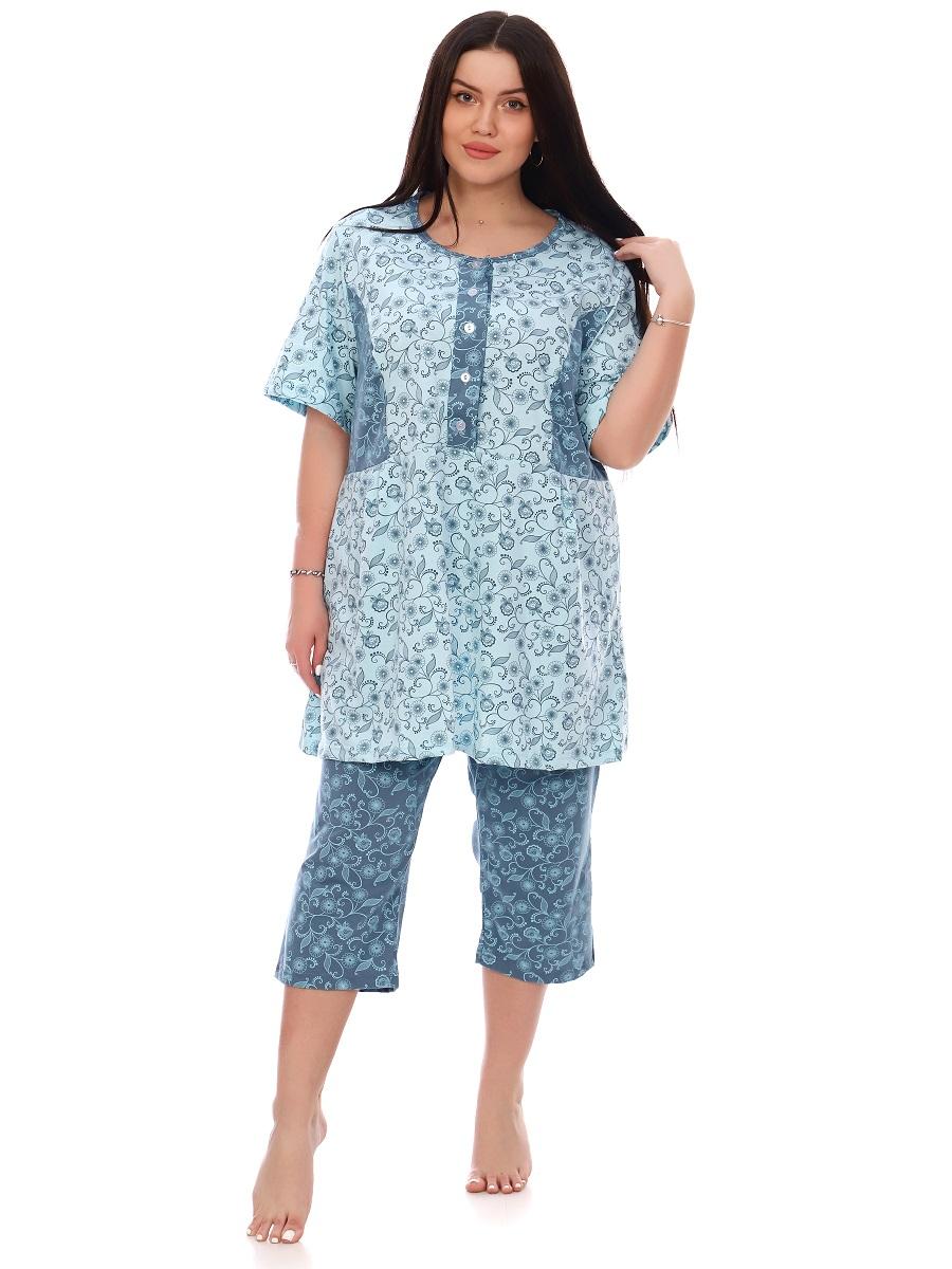 Изображение: Пижама женская на пуговицах