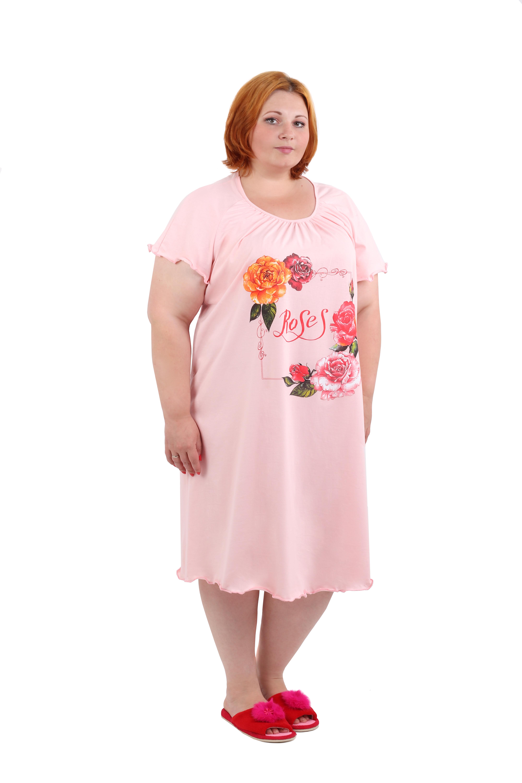 Изображение: Сорочка с принтом Розы
